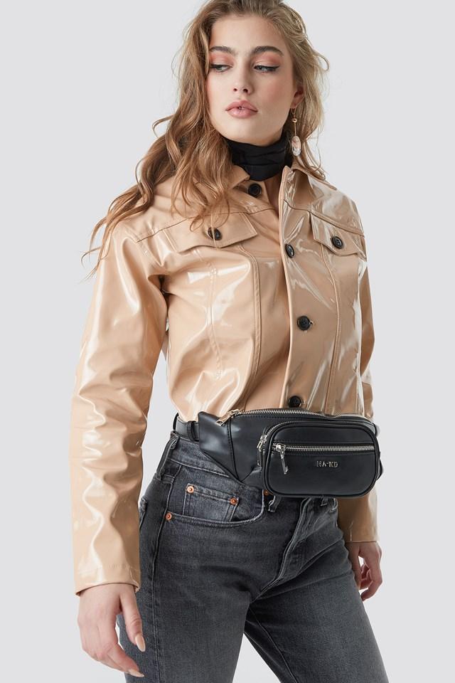 Zipper Fanny Pack Black