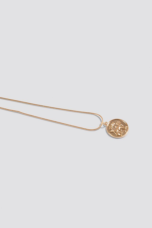 Zodiac Aries Necklace Gold