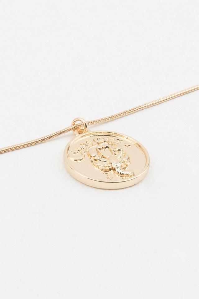 Zodiac Cancer Necklace Gold
