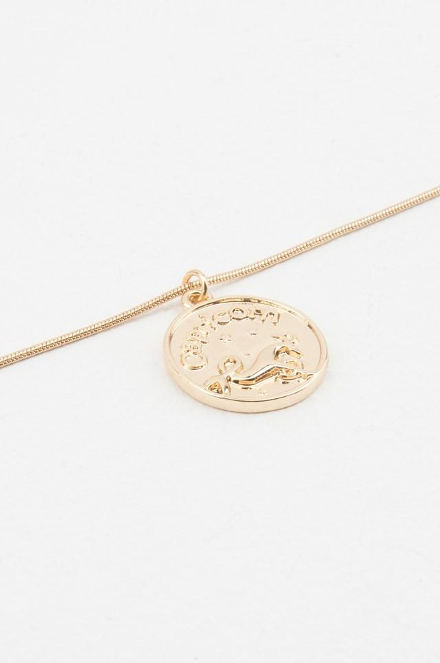 Zodiac Capricorn Necklace Gold