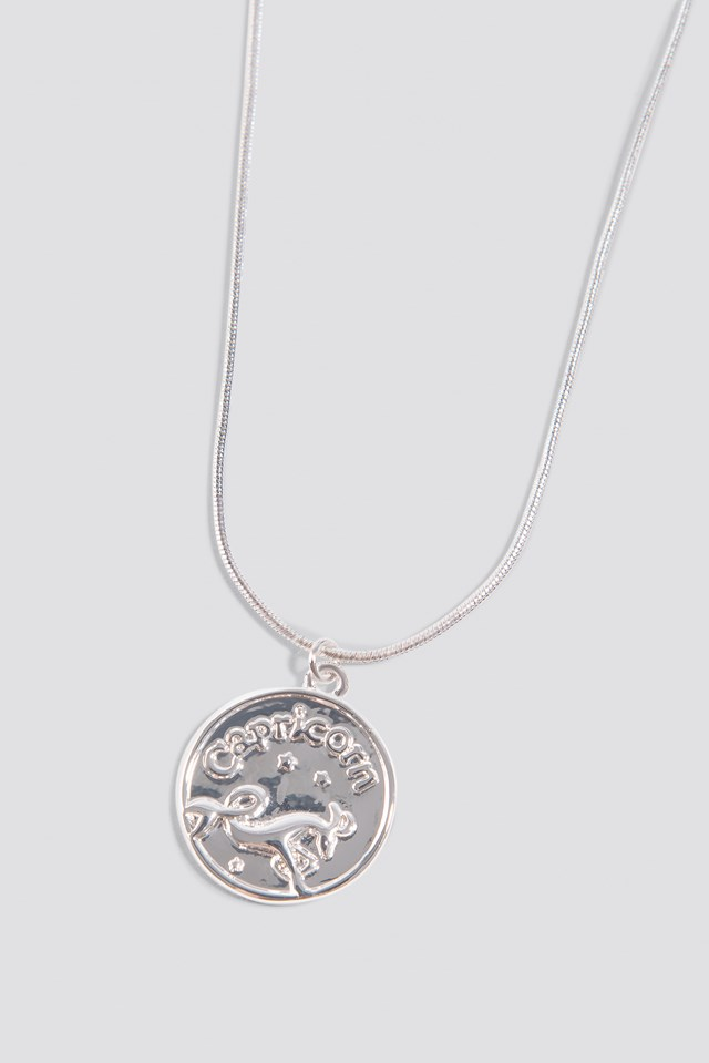 Zodiac Capricorn Necklace Silver
