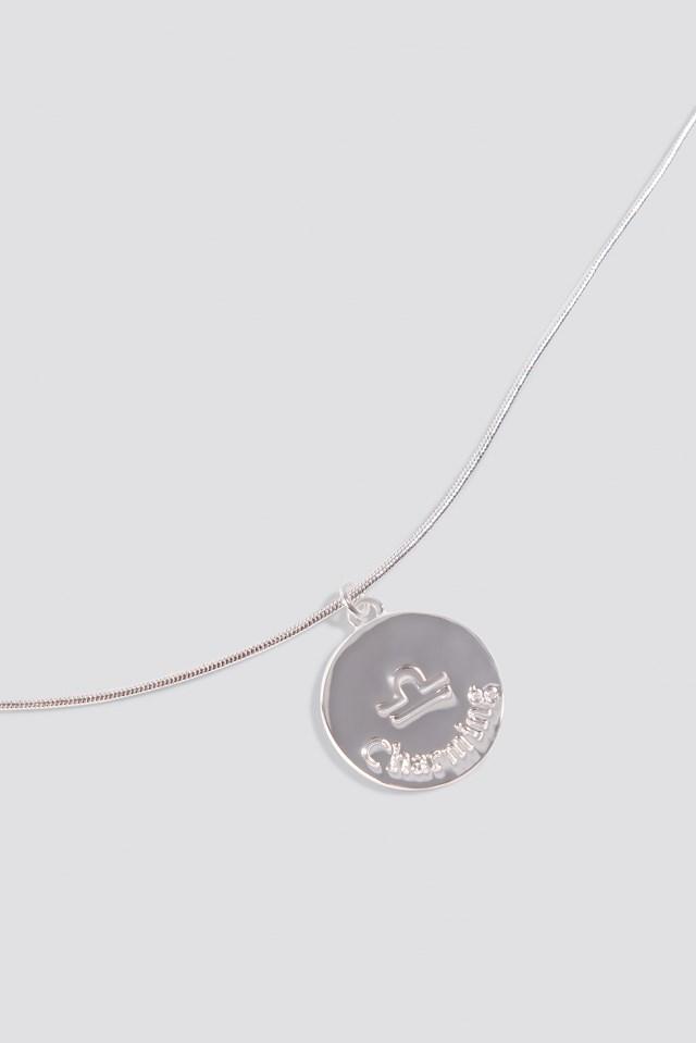 Zodiac Libra Necklace Silver