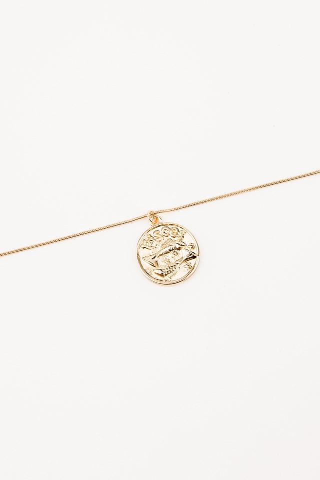 Zodiac Pisces Necklace Gold