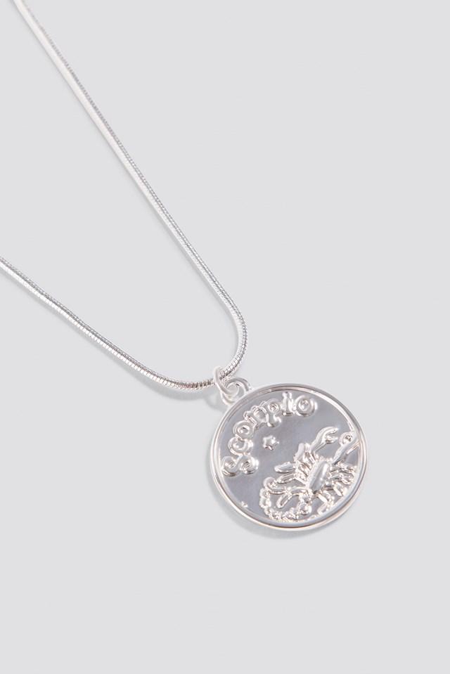 Zodiac Scorpio Necklace Silver