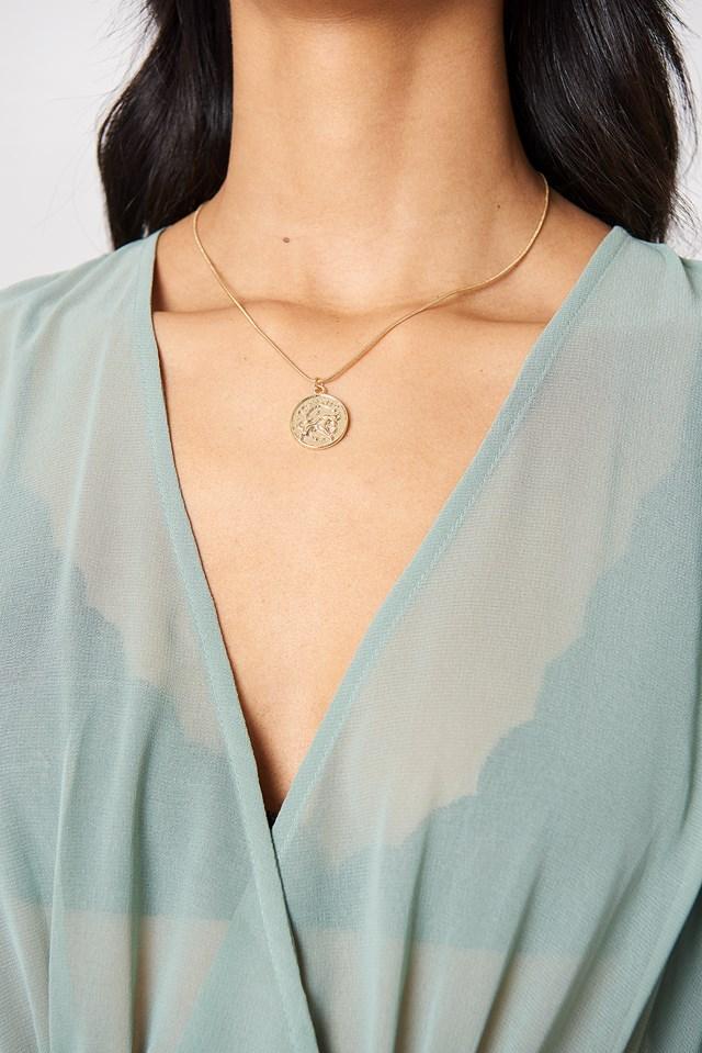 Zodiac Taurus Necklace Gold