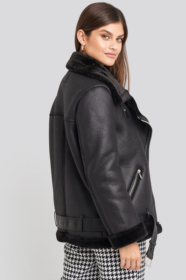 Bonded Aviator Jacket Black