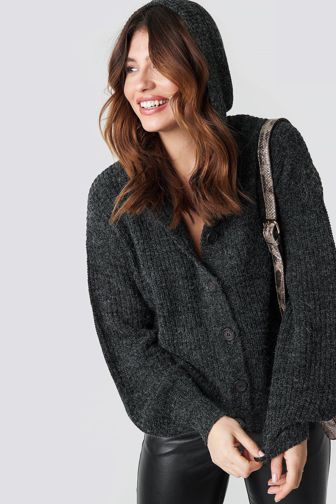 Hood Knitted Sweater NA-KD.COM