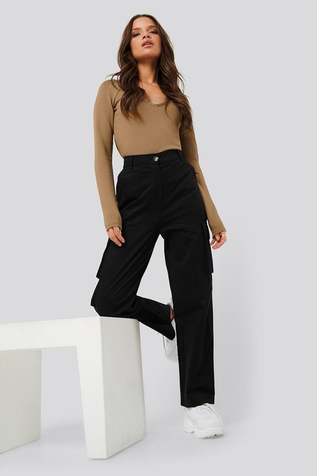 Cargo Pocket Pants Black