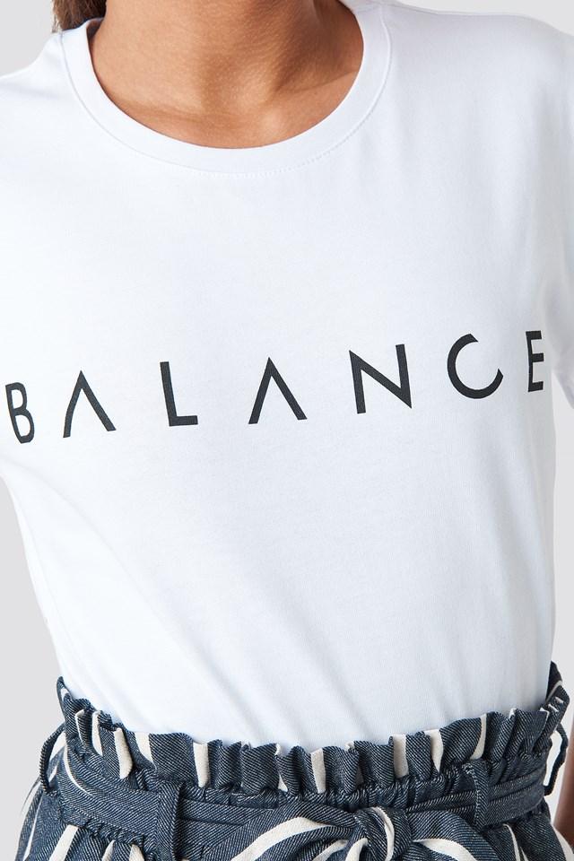 Balance Tee White