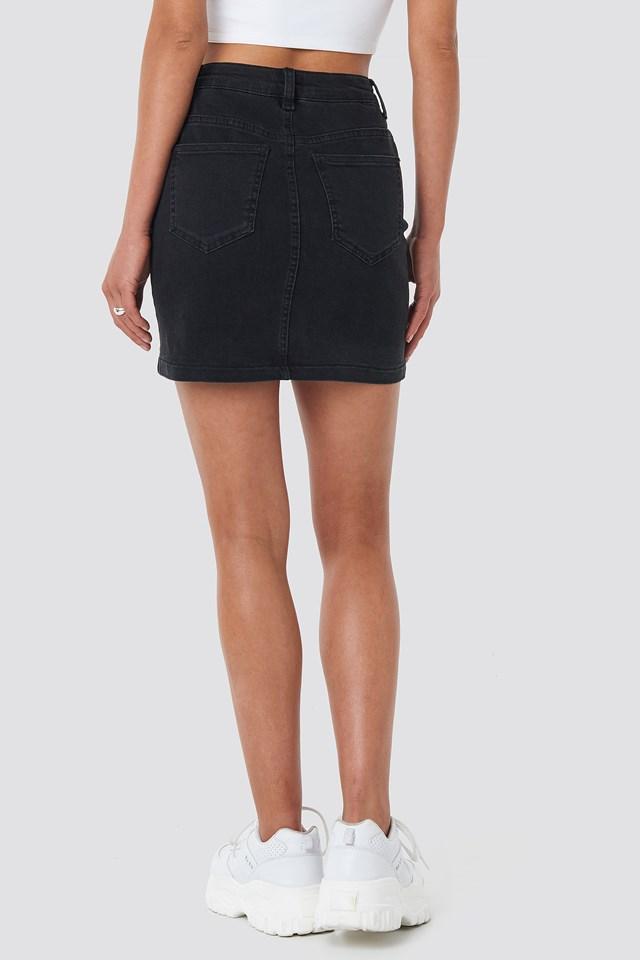 Mini Denim Skirt Black
