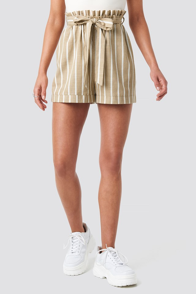 Tie Waist Relaxed Shorts NA-KD.COM