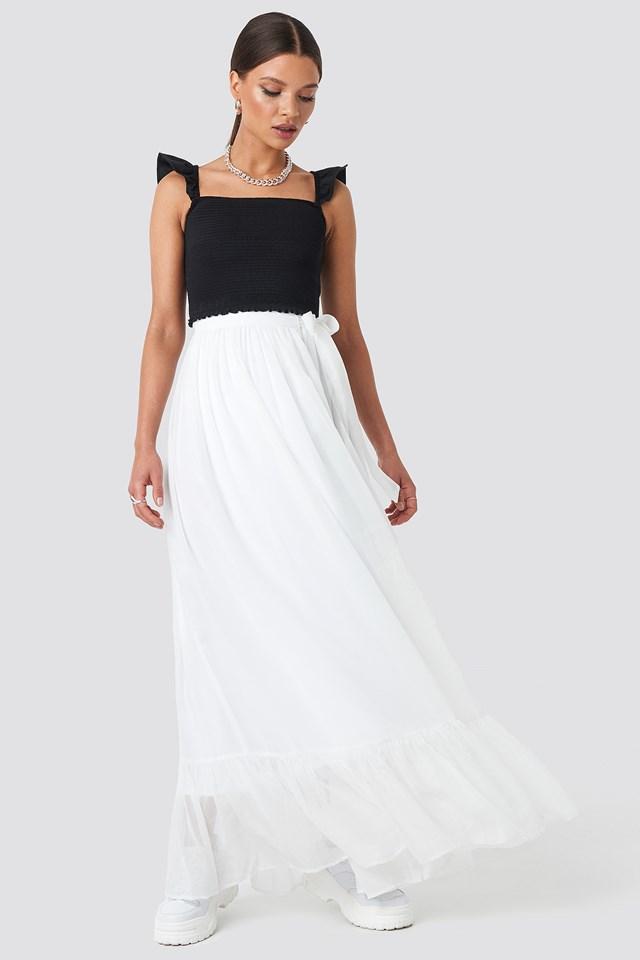 Tied Maxi Skirt NA-KD.COM