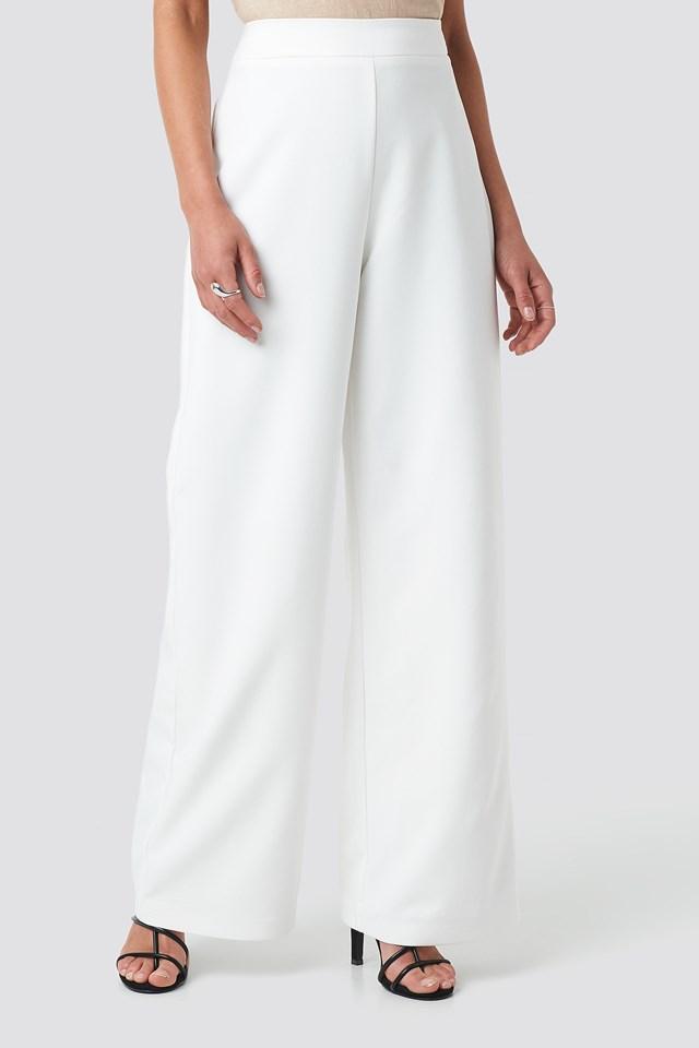 Wide Leg Pants White