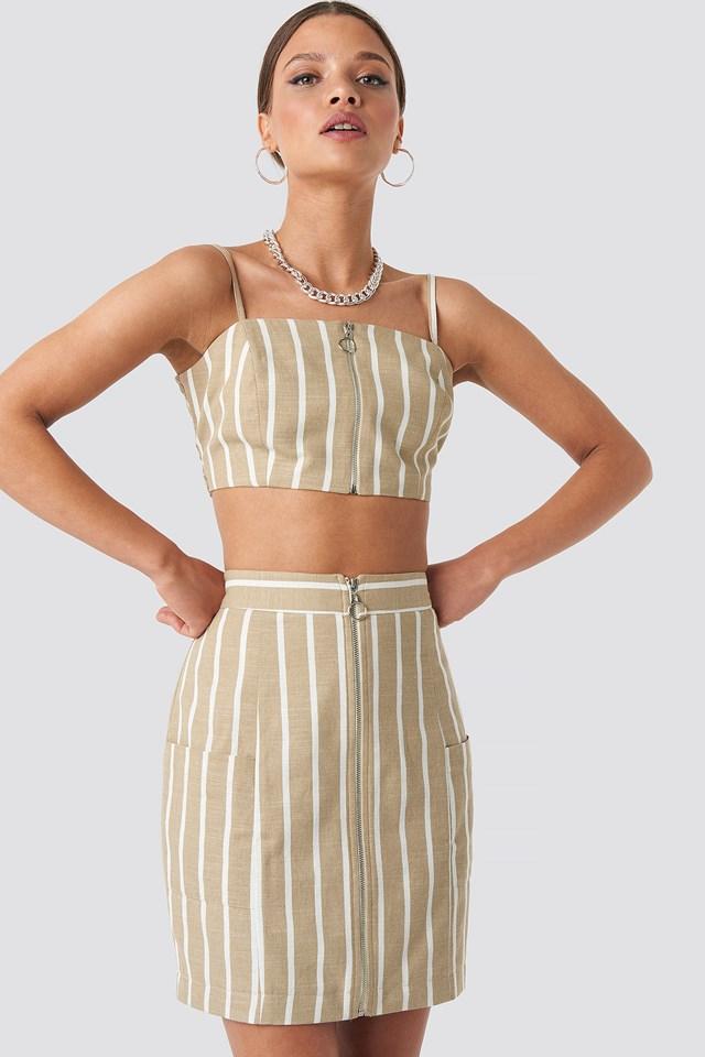 Zipped Skirt NA-KD.COM