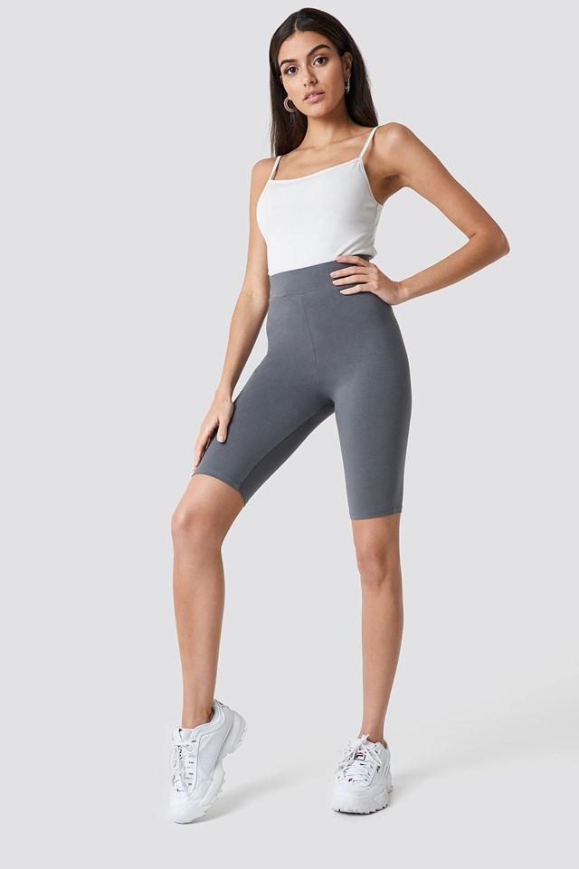 Basic Long Shorts Grey