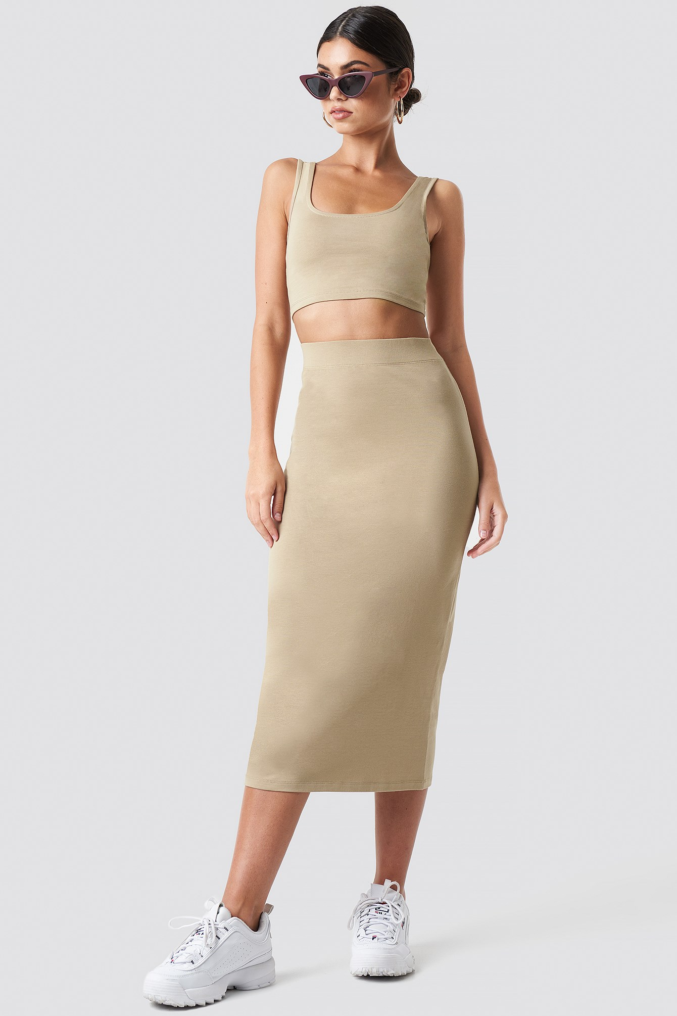 Bodycon Cropped Top NA-KD.COM