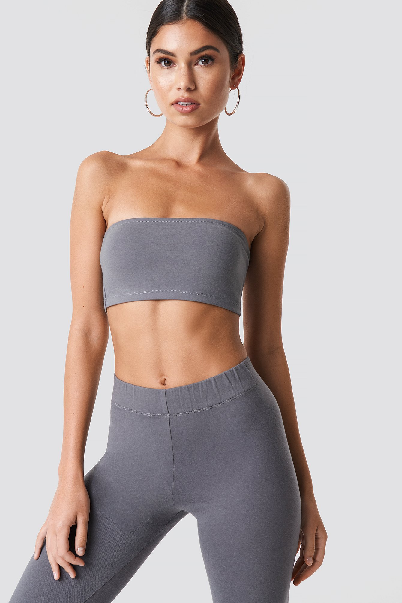 nicki x na-kd -  Mini Bandeau - Grey