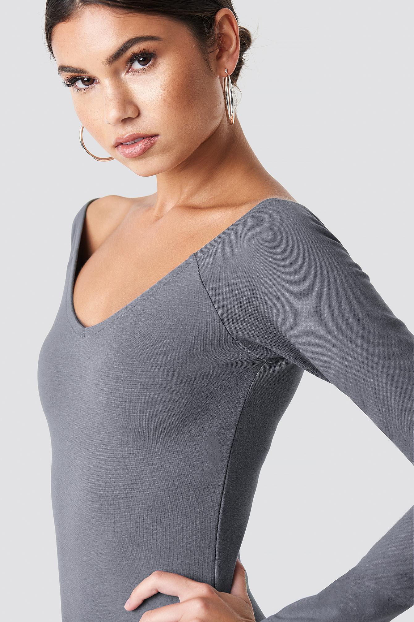 Off Shoulder Fitted Dress NA-KD.COM