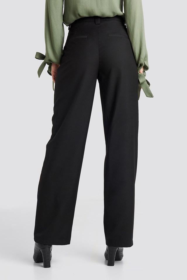 Highwaist Wide Pants Black