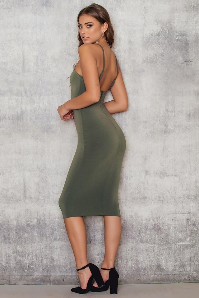 Lucky Star Midi Dress Olive
