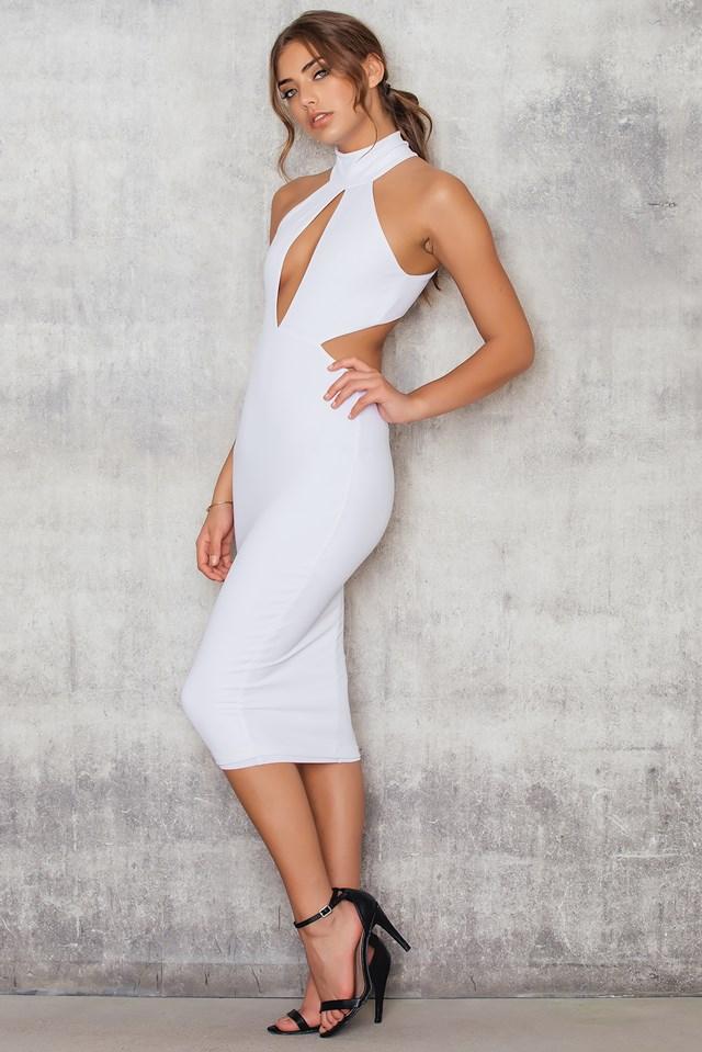 Wicked Games Midi Dress White