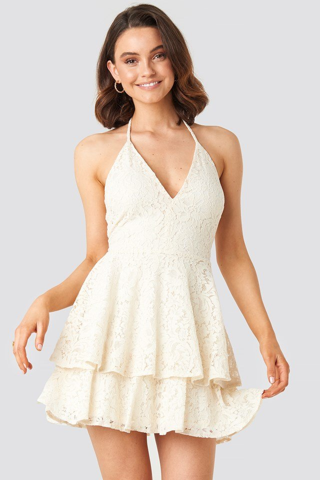 Halter Neck Lace Dress Queen of Jetlags x NA-KD