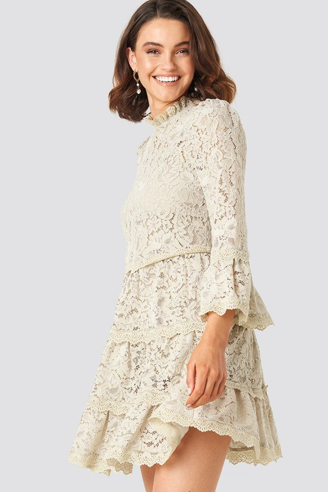 High Neck A-lined Lace Dress Queen of Jetlags x NA-KD
