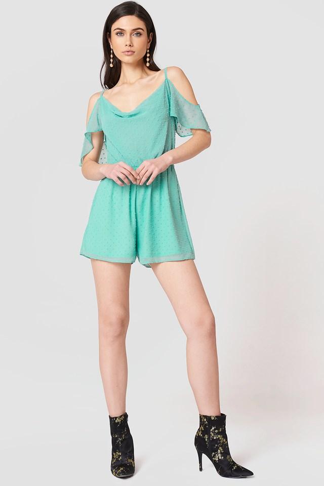 Cold Shoulder Dress Turquoise