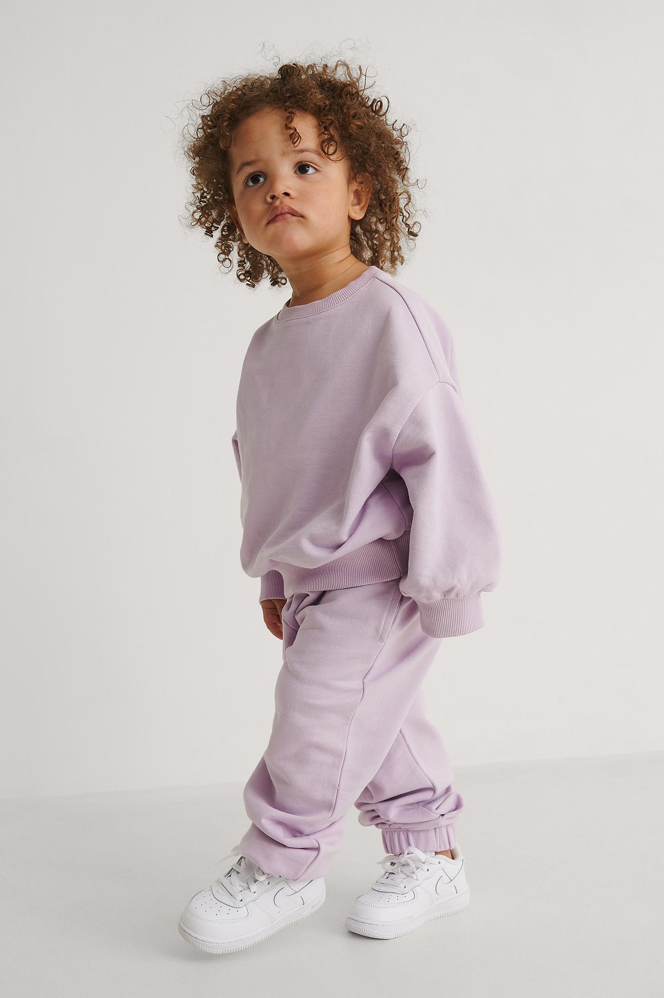 KIDS by NA-KD Perustyyliset Orgaaniset Farkut - Purple