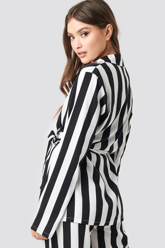 Irene Shirt Black/White Stripe