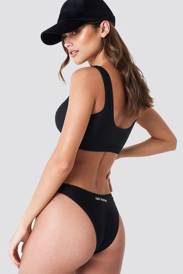 Maui Swim Top Black