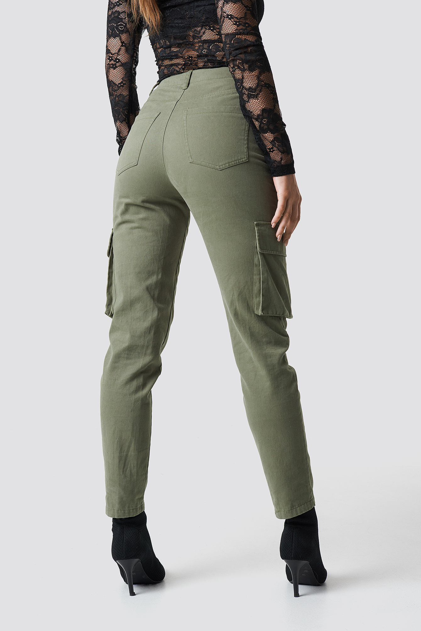 High Waist Slim Army Pants NA-KD.COM