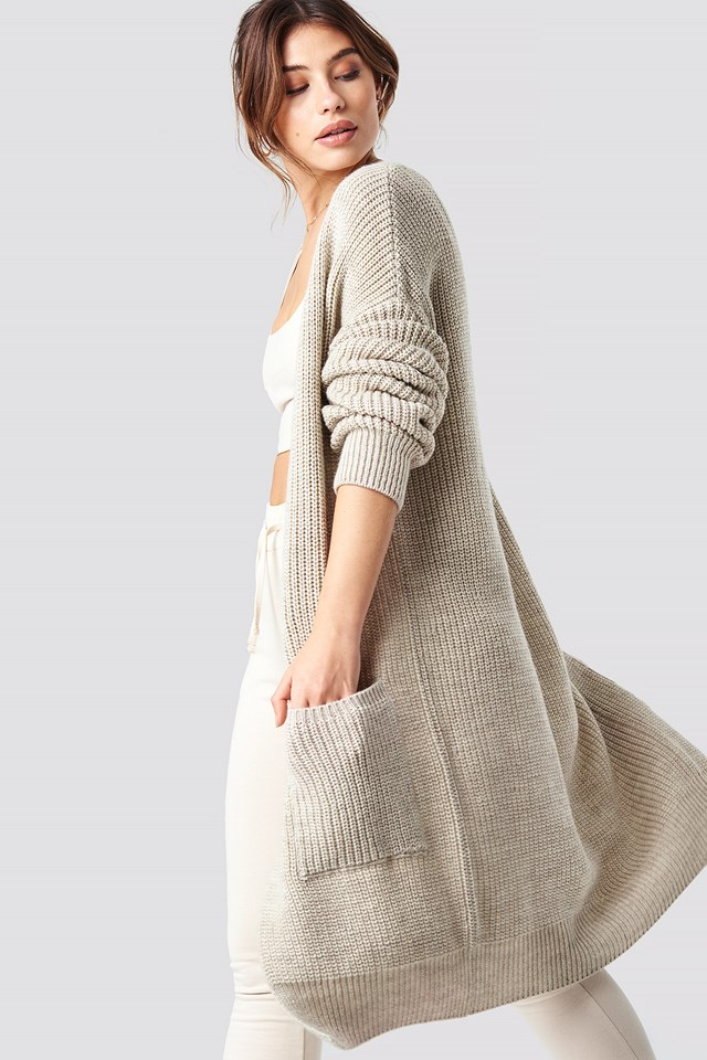 Knitted Cosy Cardigan NA-KD.COM