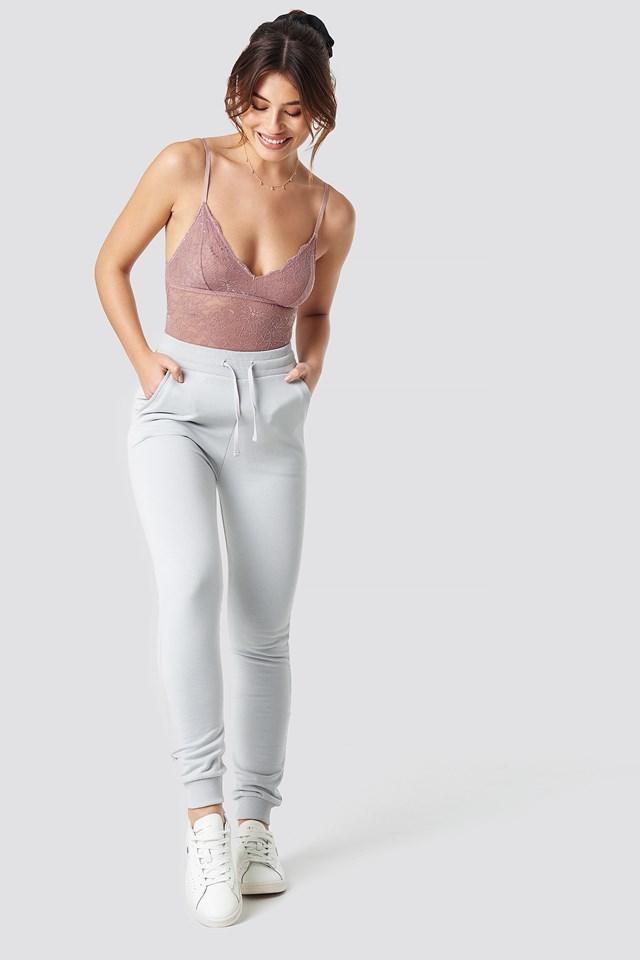 Lace Bodysuit Dusty Pink