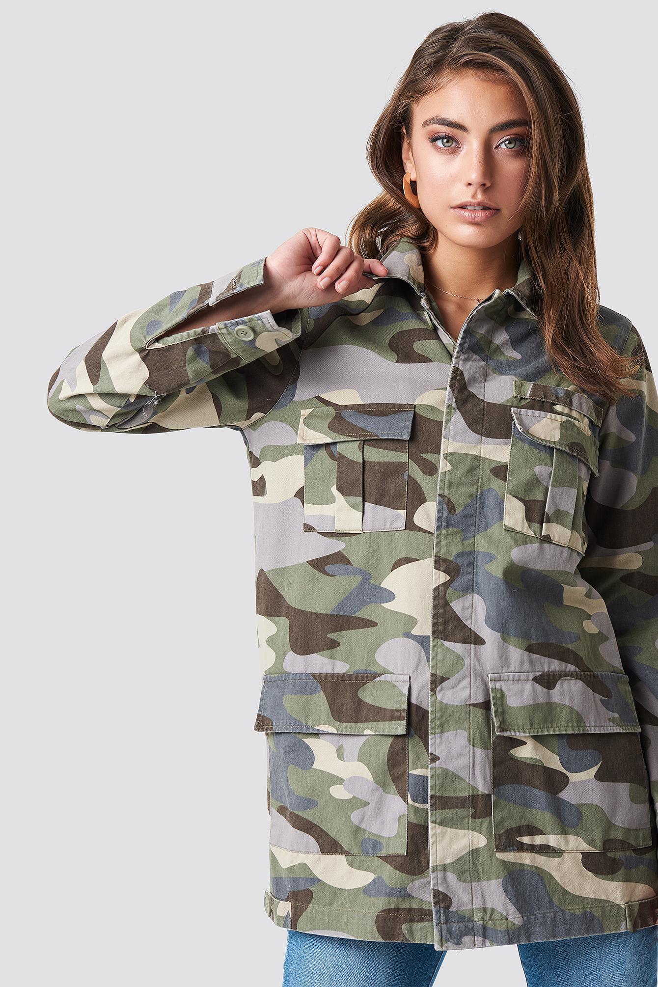 Long Camo Jacket NA-KD.COM