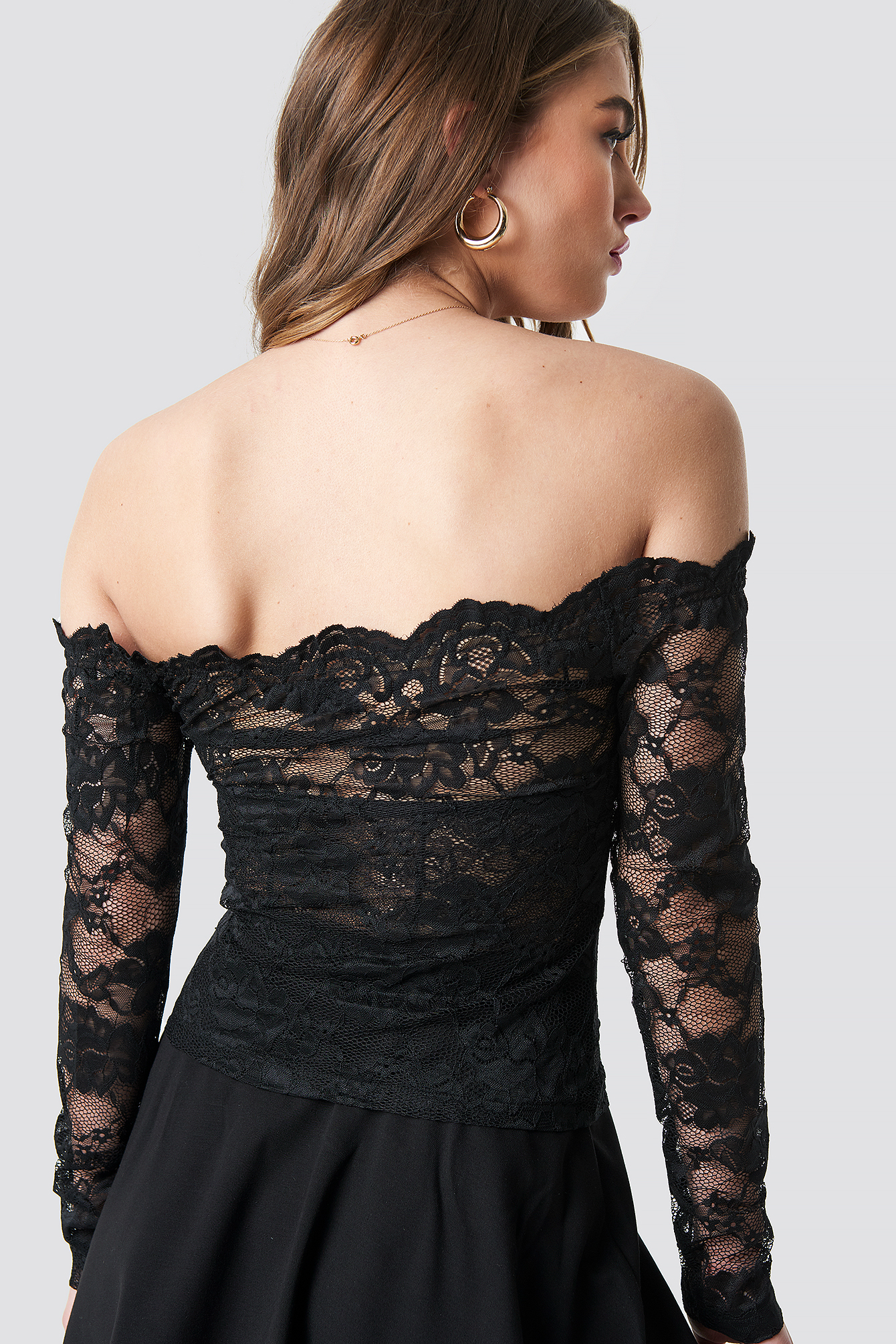 Off Shoulder Lace Top NA-KD.COM