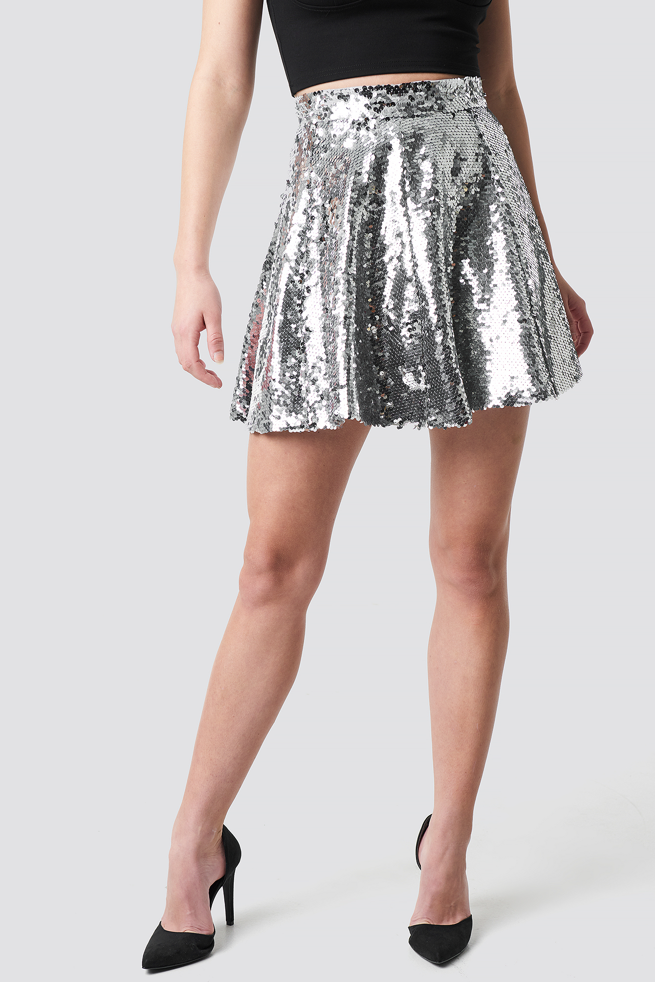 A-Lined Sequin Skirt NA-KD.COM