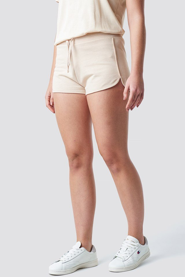 Soft Sweater Shorts Beige