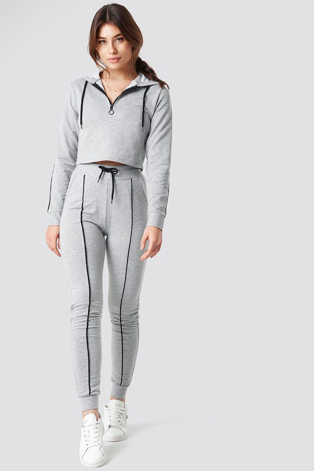 Soft Slim Track Pants Grey