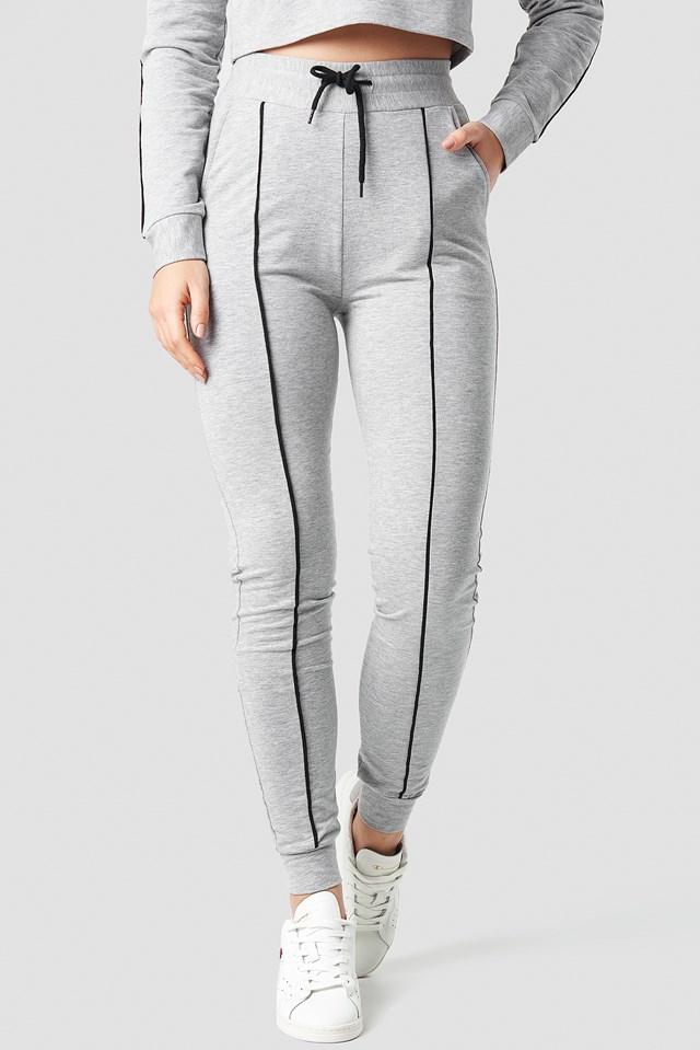 Soft Slim Track Pants NA-KD.COM