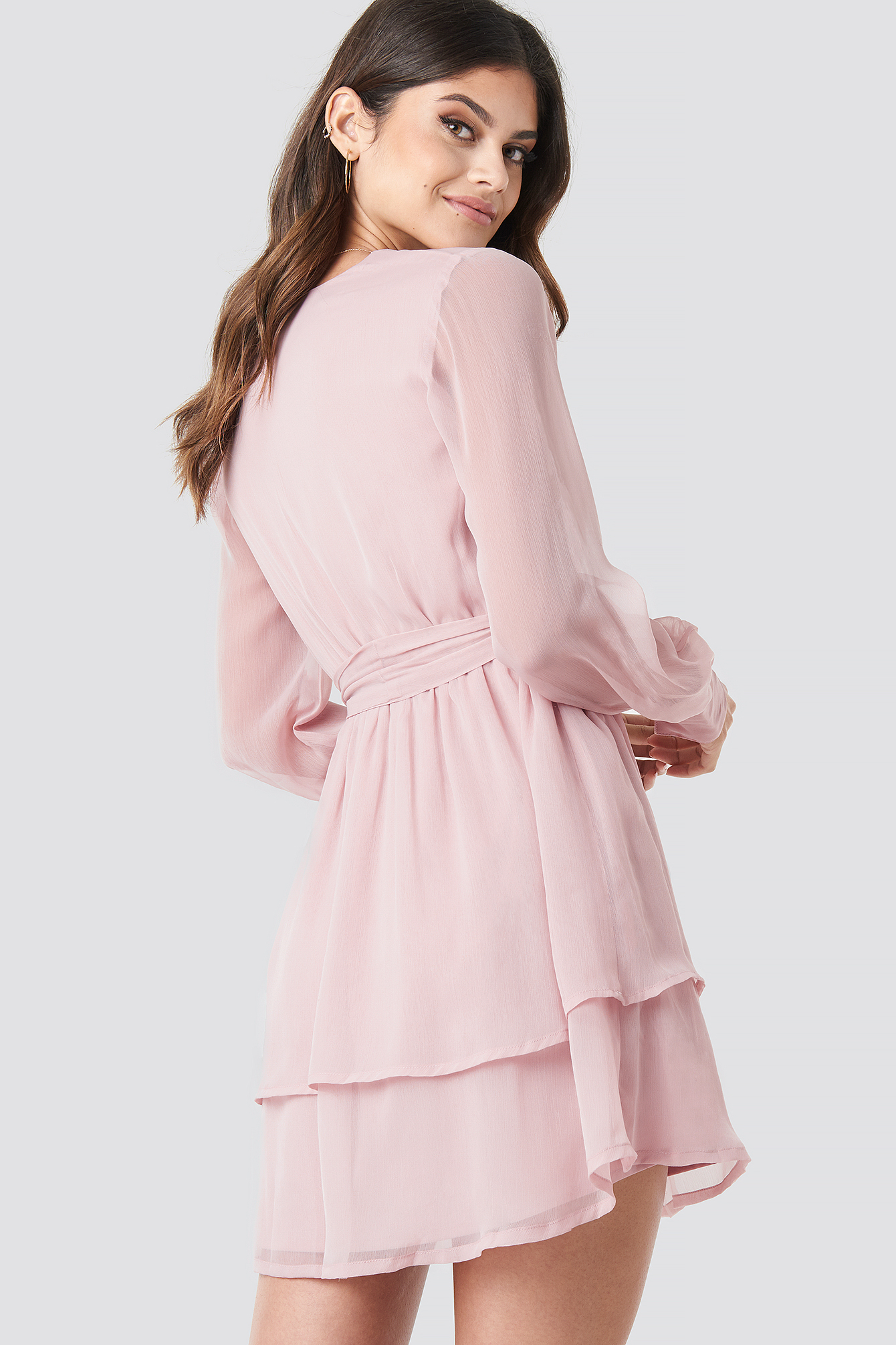 Double Layered Mini Dress NA-KD.COM