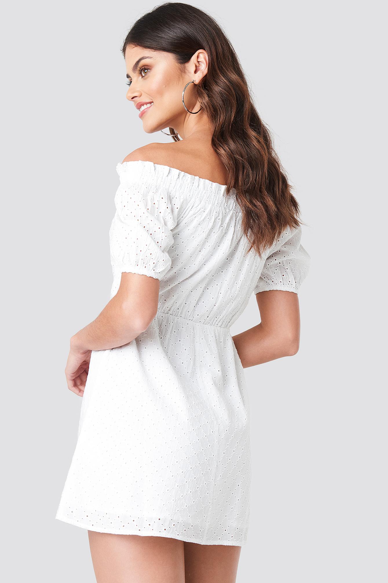 Off Shoulder Puffy Sleeve Dress NA-KD.COM