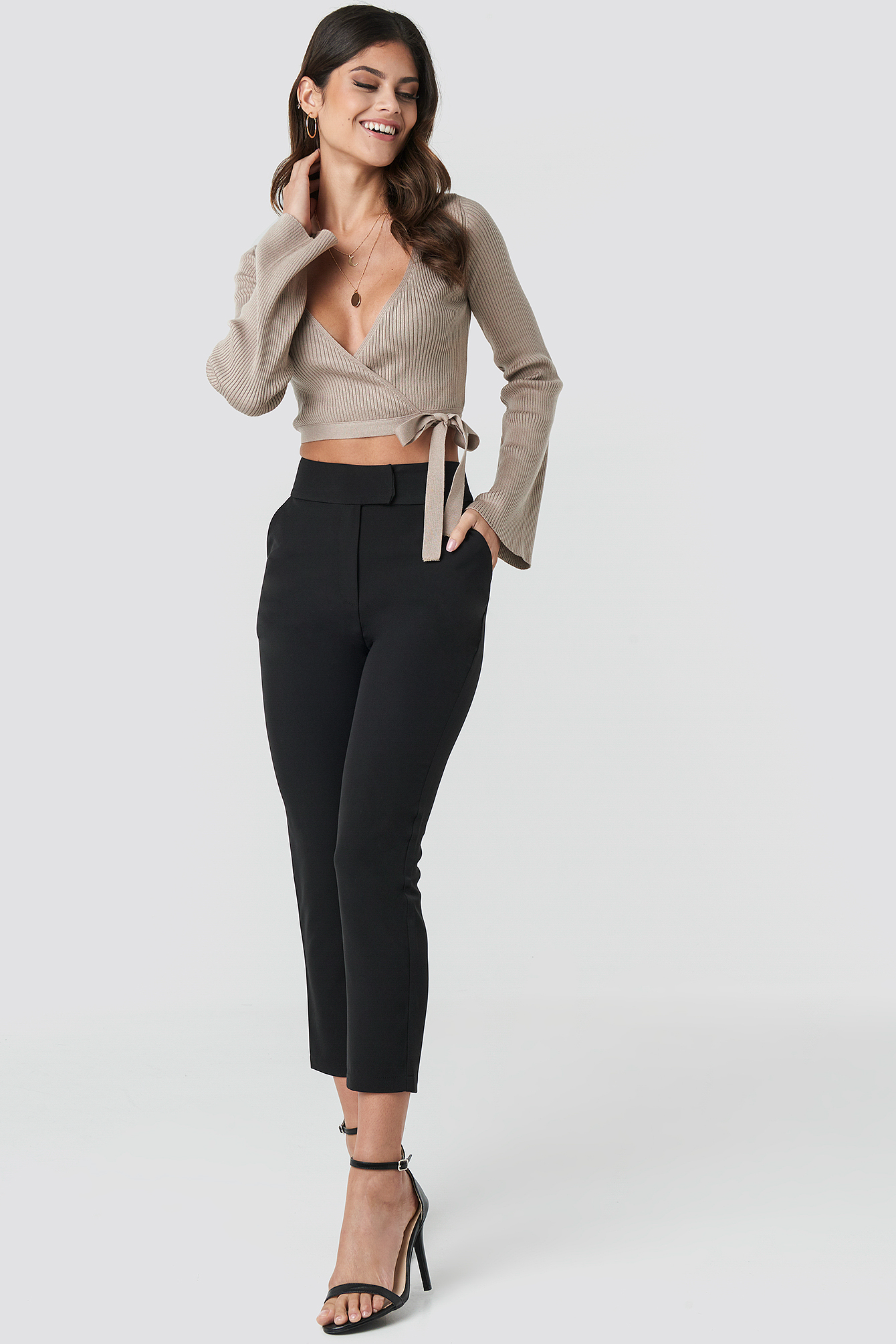 Ribbed Wrap Top NA-KD.COM