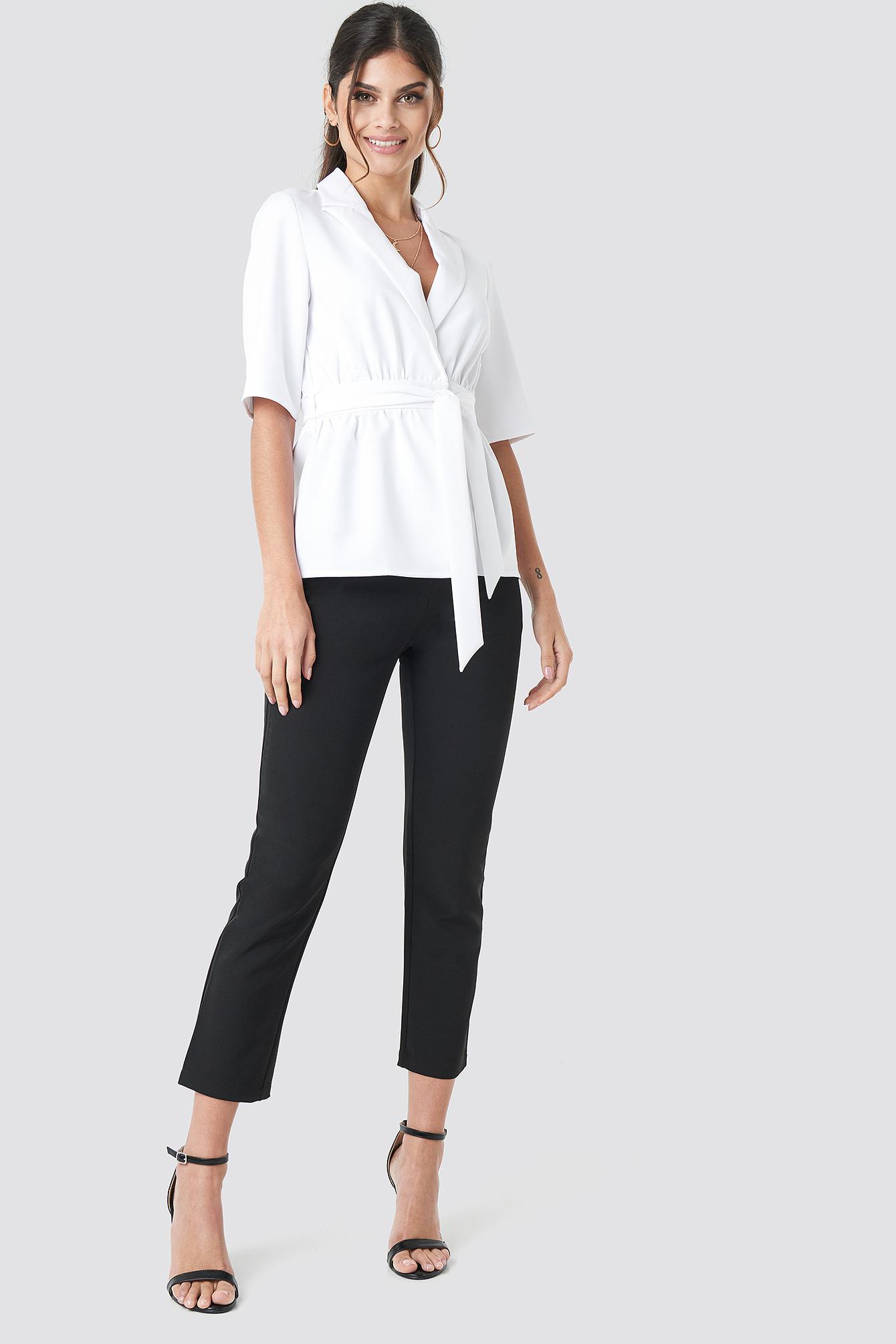 Short Sleeve Tied Blazer NA-KD.COM