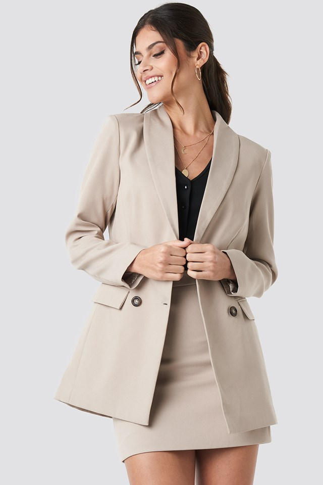 Tailored Blazer Taupe