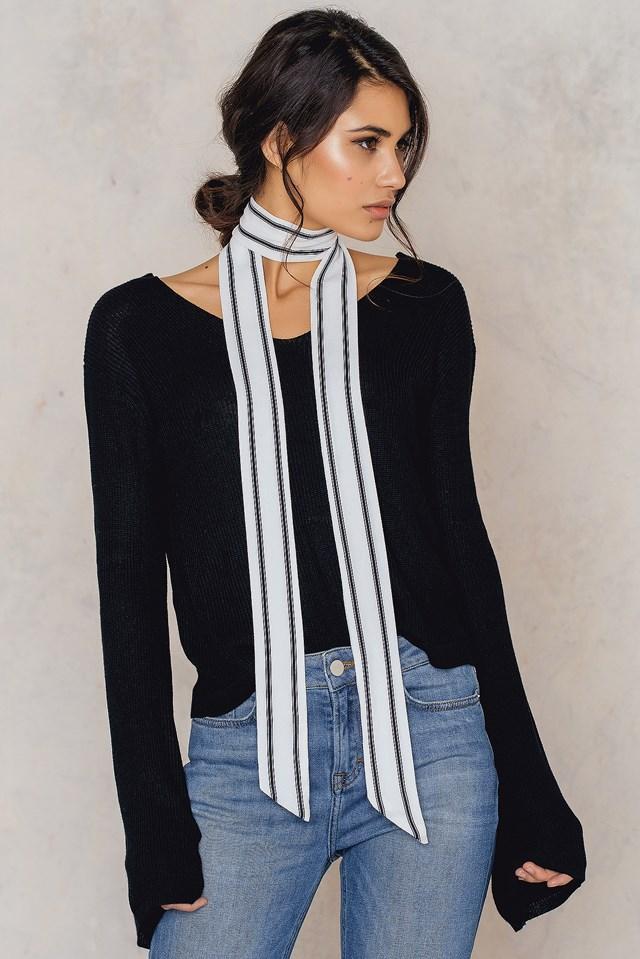 Pinstriped Skinny Scarf Stripe