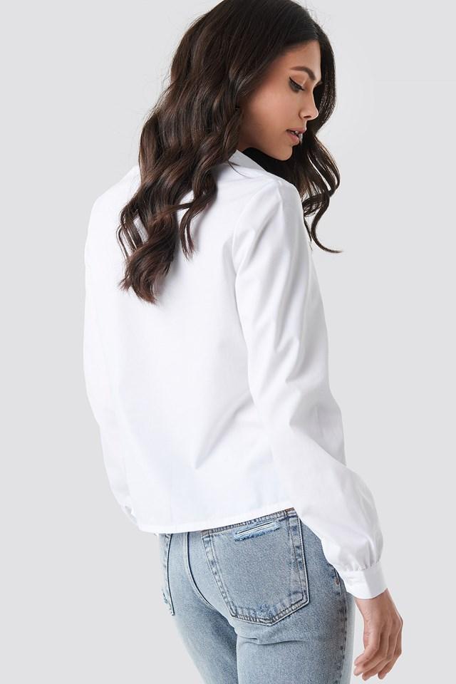 Pointy Collar LS Shirt NA-KD.COM