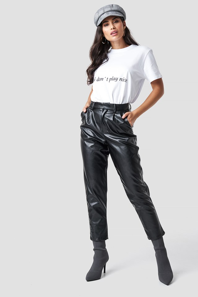 PU Leather Cropped Pants NA-KD.COM