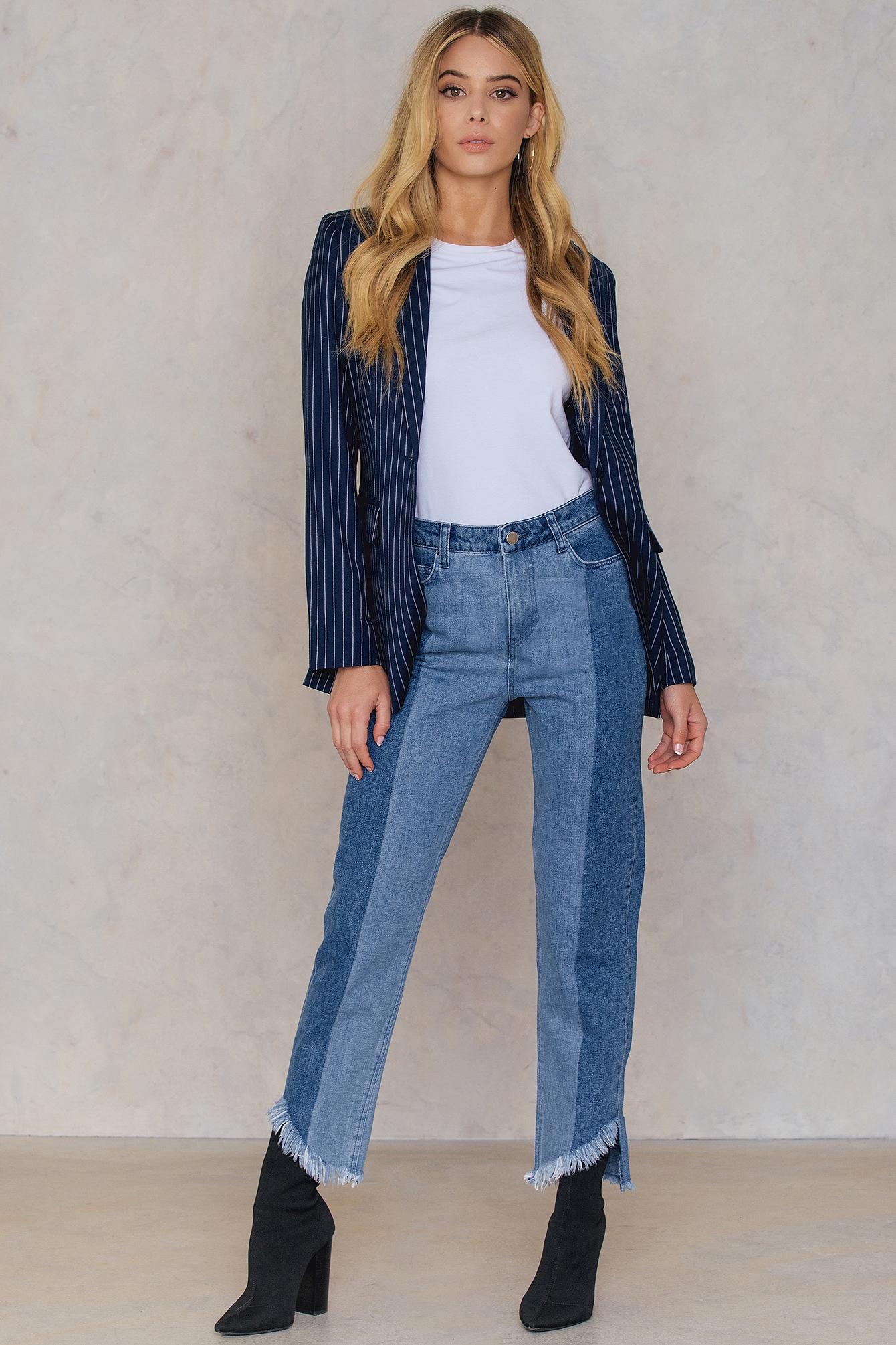 Asymmetric Hem Jeans NA-KD.COM
