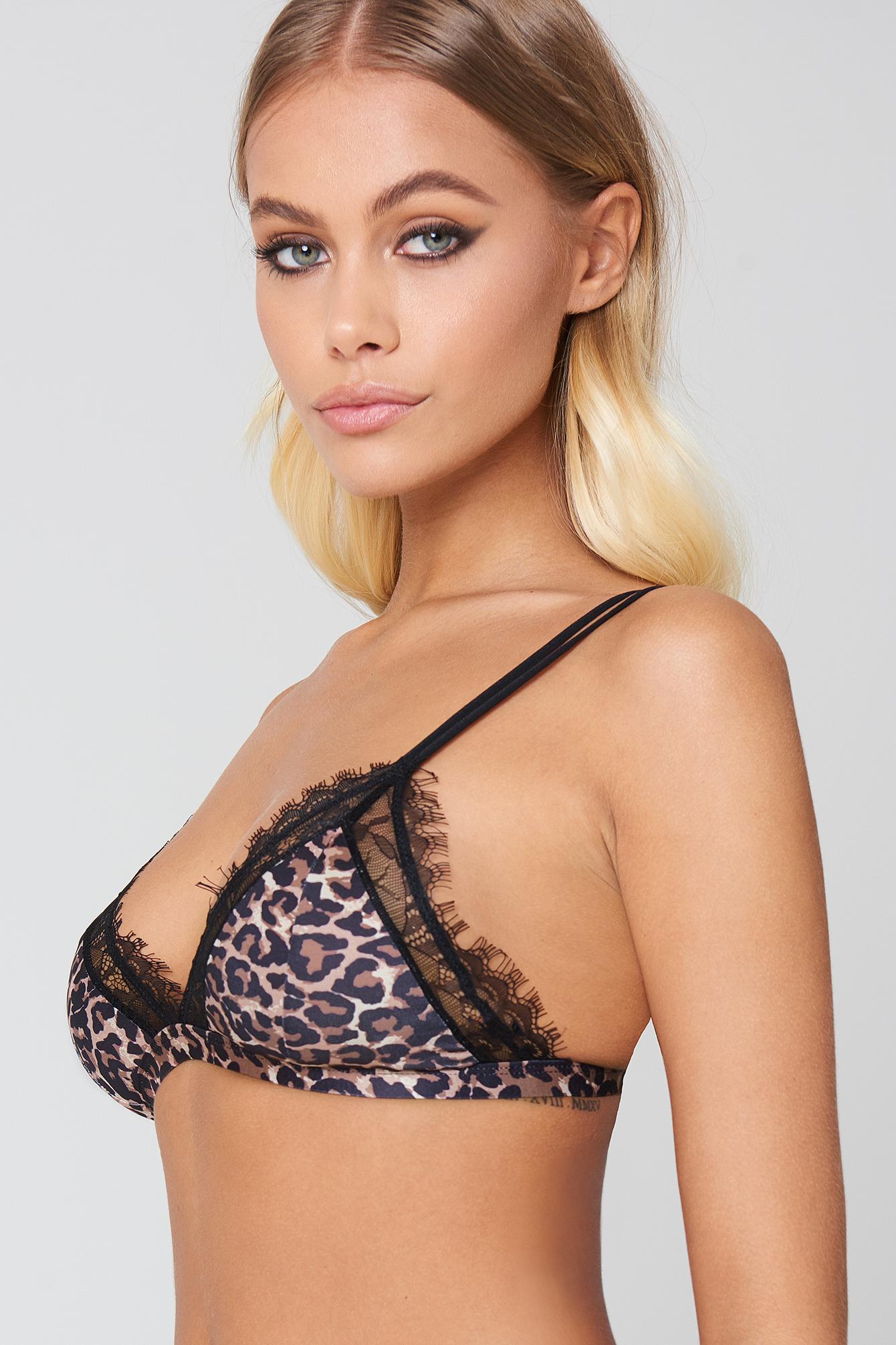Leopard Satin Bra NA-KD.COM